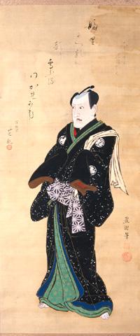 豊国画「三代目中村歌右衛門」